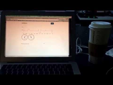 Arduino demo send sensor data to web panel