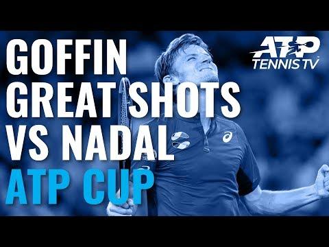 David Goffin Brilliant Shots in Win vs Nadal   ATP Cup 2020