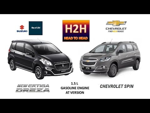 H2h 44 Suzuki New Ertiga Dreza Vs Chevrolet Spin Youtube