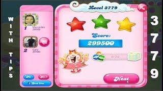 Candy Crush Saga 3779      WITH WRITTEN TIPS IN DESCRIPTION