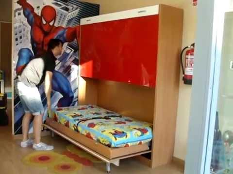 Como abrir y cerrar las camas abatibles horizontales - Camas muebles plegables ...