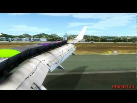 FSX HD 1080p - AS REAL AS IT GETS!!! Condor 757 Landing Ibiza!