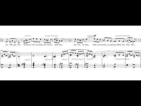 Au bord de l'eau - Fauré -  accompaniment in C# minor