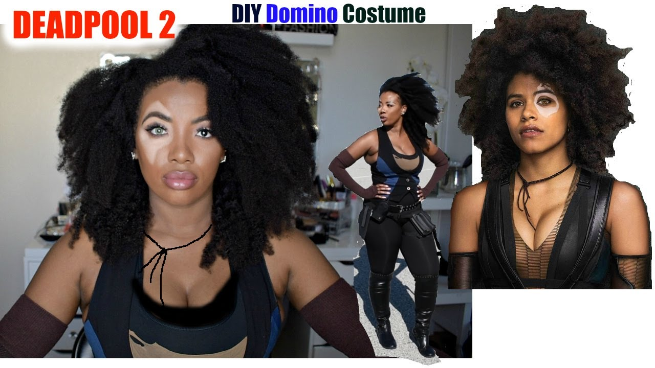 Marvel Halloween Costumes Diy.Diy Marvel Domino Costume Transformation Deadpool 2 Tutorial Halloween