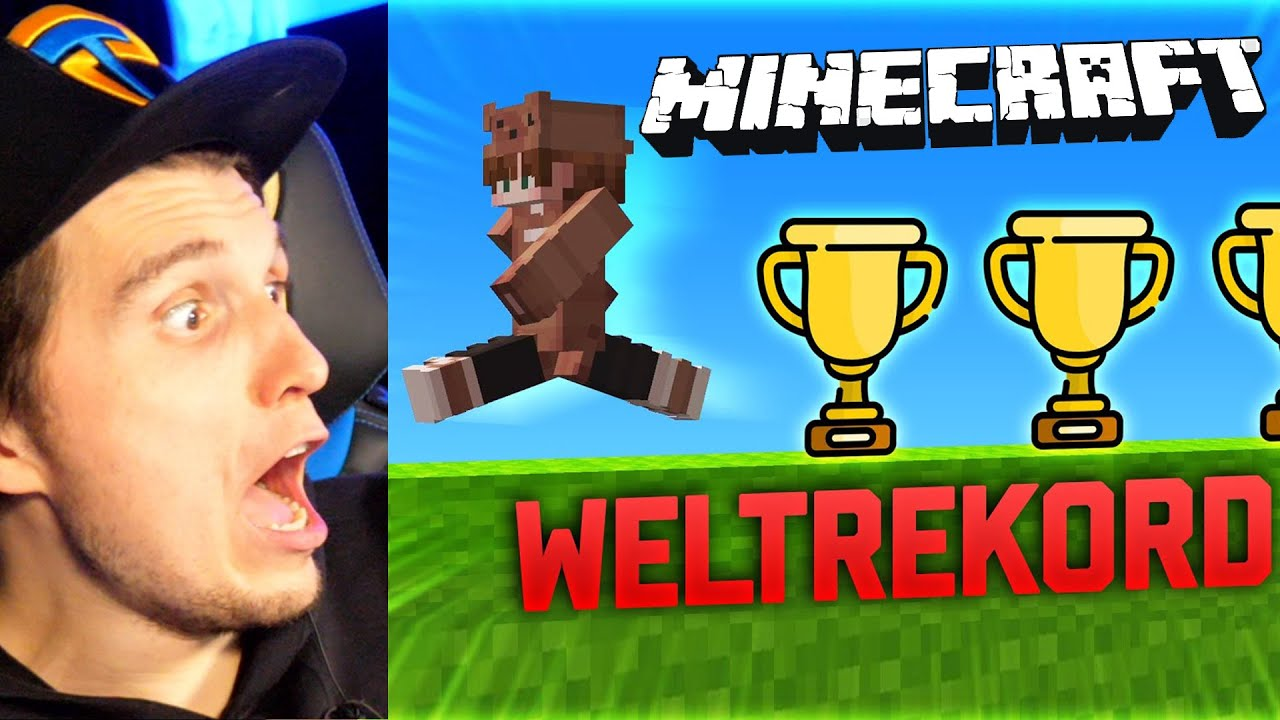Paluten REAGIERT auf Ich breche WELTREKORDE in Minecraft