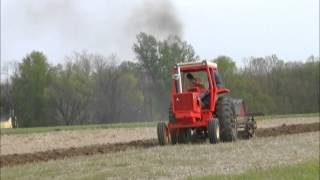 BARNHIZER FARMS LIBERTY, INDIANA ALLIS CHALMERS 200 AND JOHN DEERE 4 BOTTOM PLOW JOHN DEERE 4320 AND