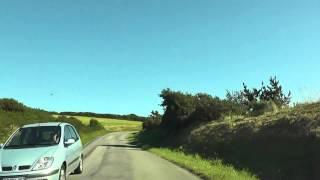 Driving Between Plage de Treguer & Sainte Anne La Palud, Plonévez -Porzay, Finistere, Brittany
