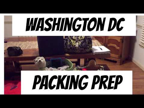 Vacation Prep  Packing For Kids  Washington DC Road Trip