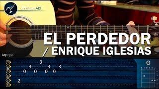 """Cómo tocar """"El Perdedor"""" de Enrique Iglesias y Marco Antonio Solis en Guitarra (HD) - Christianvib"""