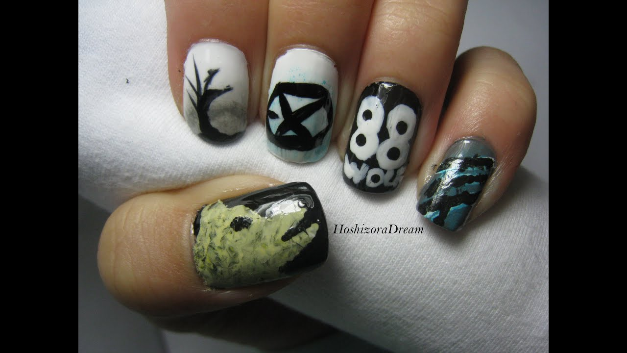 Wolf exo nail art youtube prinsesfo Images