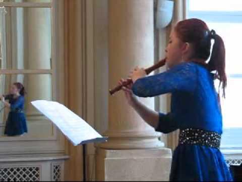 W.A. Mozart: Flute Concerto D-dur Allegro - by Lenka Molcanyiova