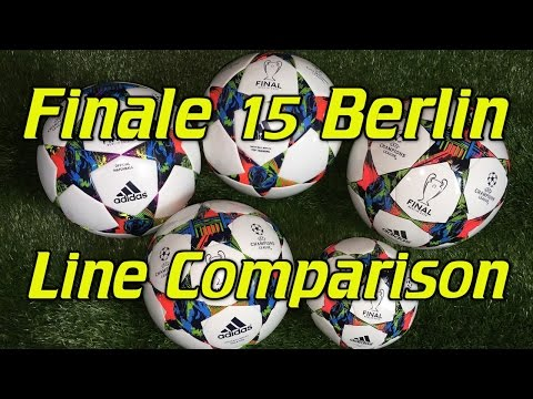 Adidas Finale Berlin 2015 Champions League Soccer Ball/Football - Line Comparison + Review