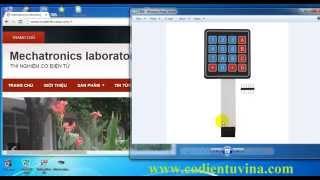 Hướng dẫn sử dụng bàn phím ma trận 4x4 (Keypad matrix 4x4) cùng với Arduino - www.codientuvina.com