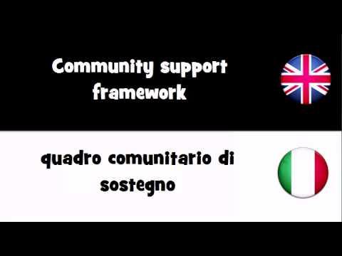 TRANSLATE IN 20 LANGUAGES = Community support framework