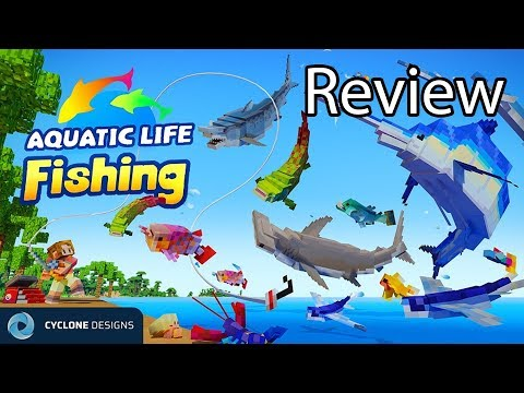 Minecraft Aquatic Life Fishing Gameplay Review