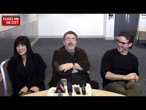 Warehouse 13 Season 5   Eddie McClintock, Kelly Hu & Saul Rubinek