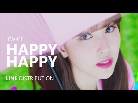 |CORRECTED| TWICE - HAPPY HAPPY | Line Distribution