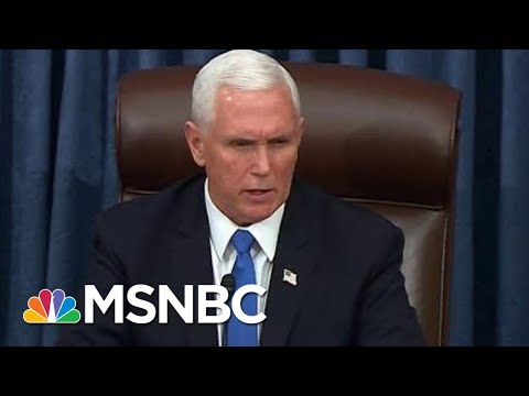 """""""Violence Never Wins"""": Pence Condemns Trump Mob As Senate Resumes Business   MSNBC"""