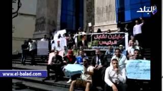 بالفيديووالصور.. فشل وقفة طلاب كليات الإعلام المفتوح لضعف المشاركة للمطالبة بالقيد بنقابة الصحفيين
