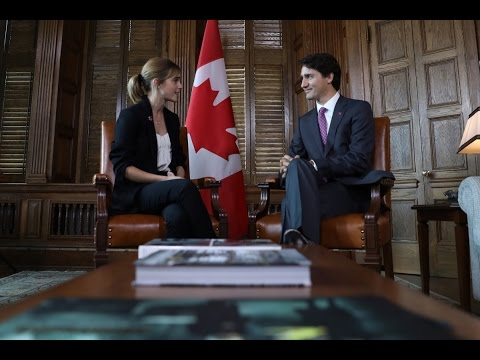 Emma Watson Meets Prime Minister Justin Trudeau