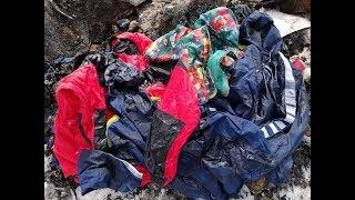 Burning pile of jackets