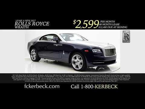 Rolls Royce Dealer Featuring Lease Payments On Brand New Rolls Royces