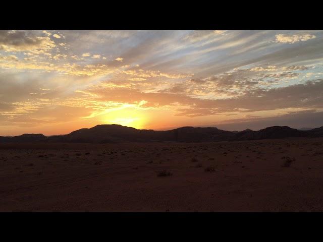 JORDAN - Sunset in Wadi Rum