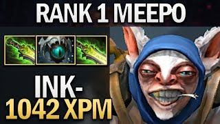 RANK 1 MEEPO WITH DOUBLE ETHEREAL BY INK - DOTA 2 7.23 GAMEPLAY