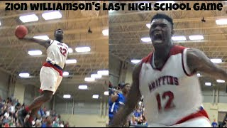 Zion Williamson is NOT HUMAN!! Goes OFF For 37 & 17 - State Championship Game!