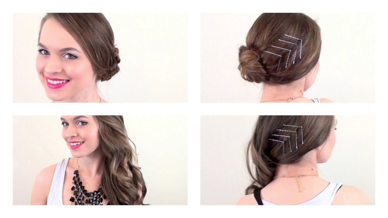 NYE Hair: A Chic Way to Dress Up a Simple Style - YouTube