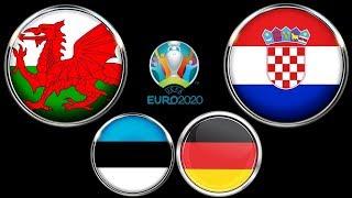 Уэльс Хорватия Эстония Германия Евро 2020 Смотрю матчи