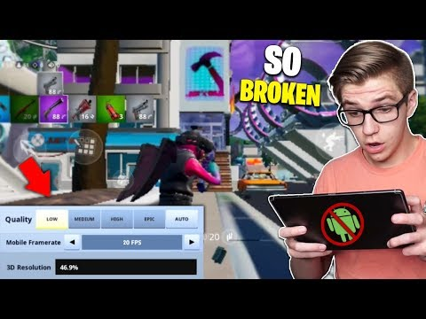 I Tried Playing Fortnite Mobile On An ANDROID TABLET... SO BROKEN! (featuring SSN Santa)