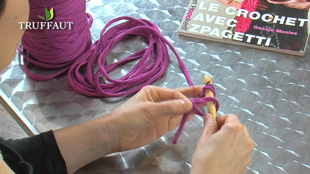 apprendre le crochet la maille en l 39 air ou cha nette jardinerie truffaut tv youtube. Black Bedroom Furniture Sets. Home Design Ideas