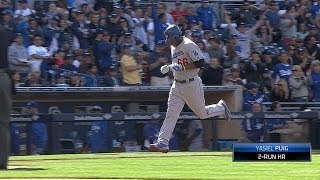 Puig blasts a 2-run homer to left field at Petco Park