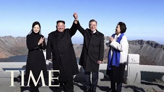 Download Video Kim Jong Un And Moon Jae In Wrap Up Summit At North Korea's Sacred Volcano | TIME MP3 3GP MP4