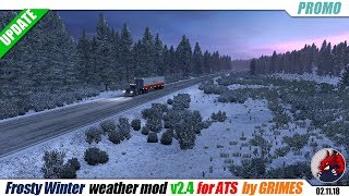 "[""American Truck Simulator"", ""mods"", ""modifications"", ""????"", ""???????????"", ""weather mod"", ""Frosty Winter Weather Mod for ATS"", ""by Grimes""]"