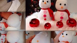 Como fazer lindos bonecos de neve para o natal