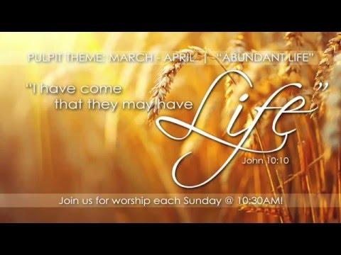 Sunday Morning Worship 6th March 2016