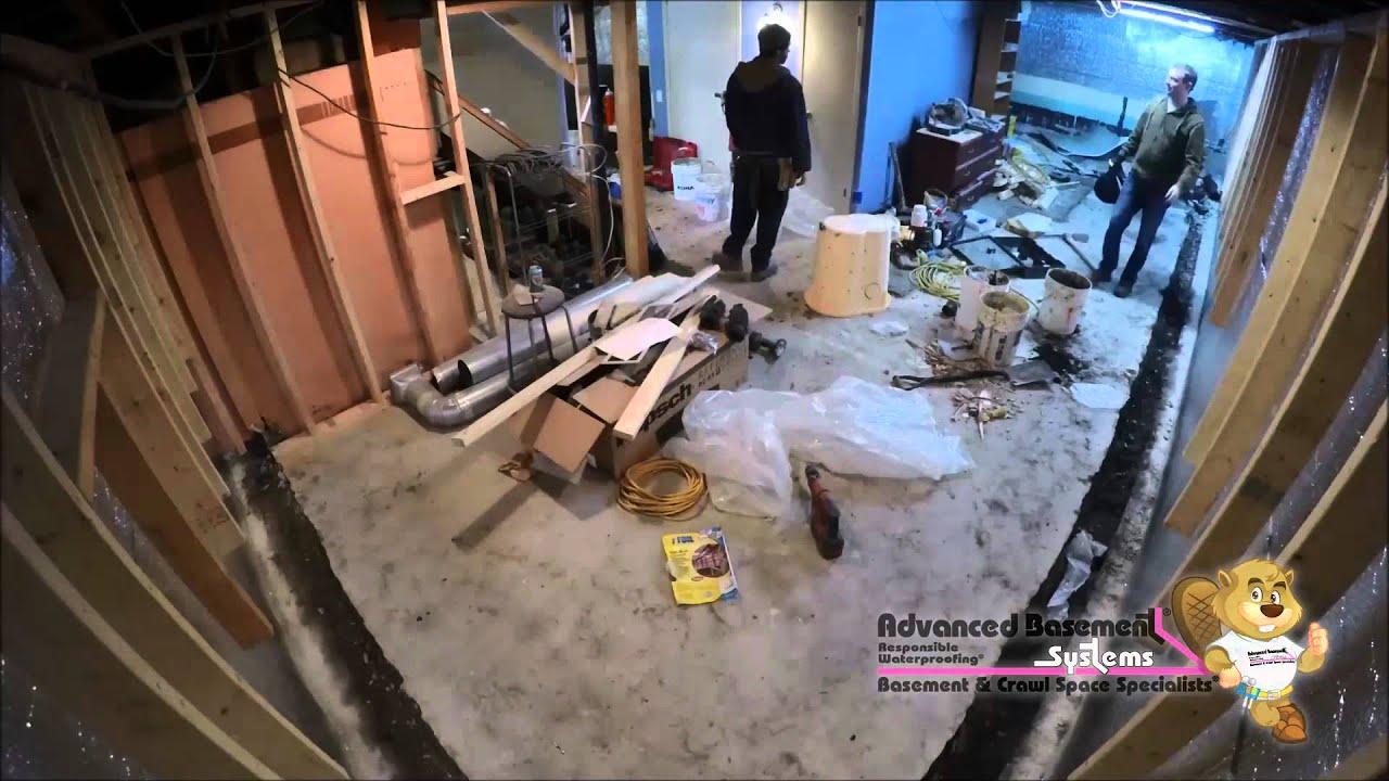Waterproofing a Basement in tario Timelapse Video