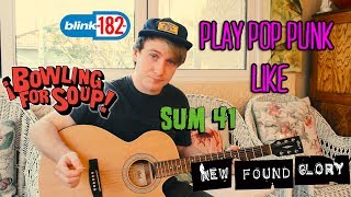 Learn how to become a pop punk riff king! Find me on social media: ...