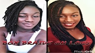 Download Box Braids On Locs | Tutorial | Winter Protective Style Mp3 and Videos