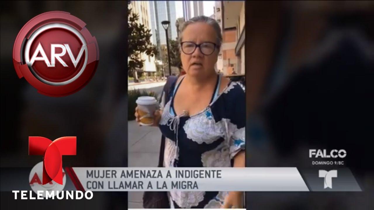 mujer-amenaza-a-una-indigente-con-llamar-a-la-migra-al-rojo-vivo-telemundo