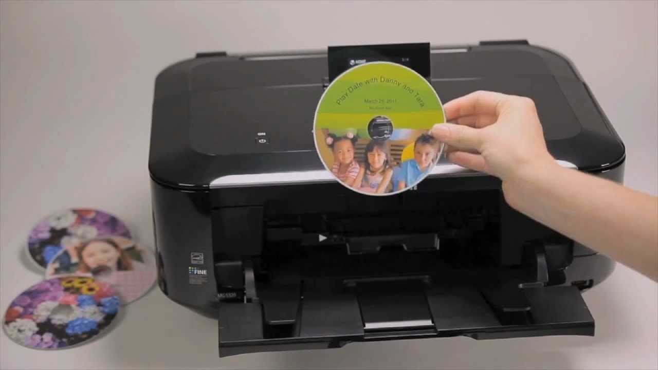 Canon MG5350 printer CD DVD tray layout