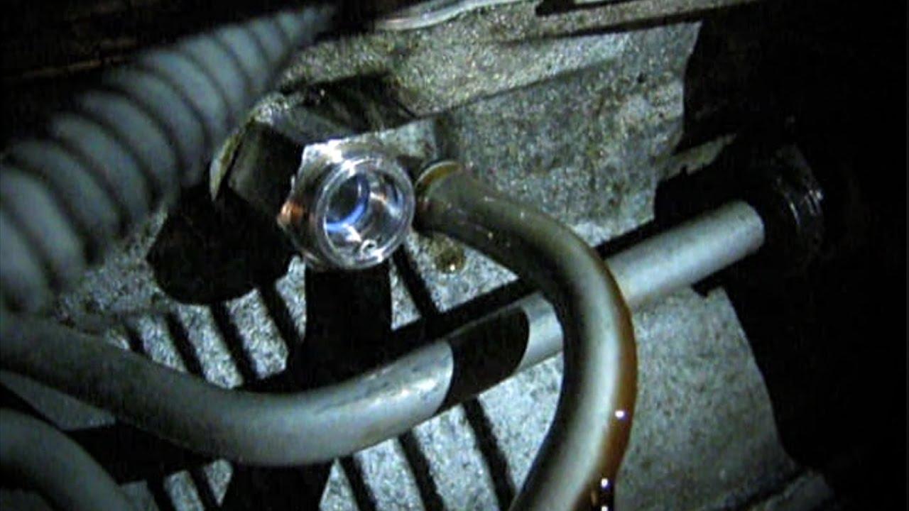 medium resolution of transmission fluid leak transmission cooler line fitting 2006 impala fixed