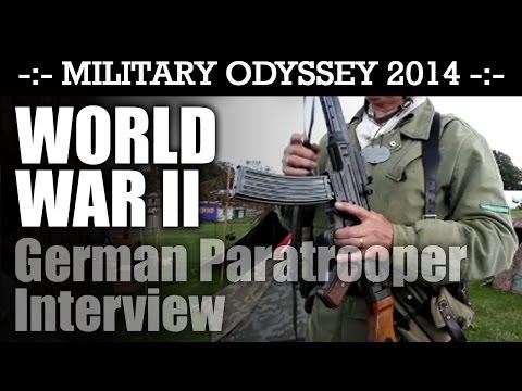 WW2 German Paratrooper Interview Military Odyssey 2014 | HD