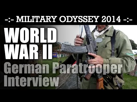 WW2 German Paratrooper Interview Military Odyssey 2014   HD