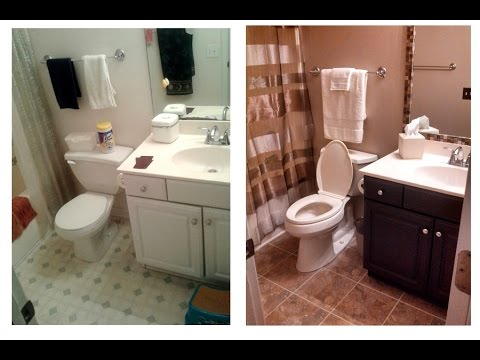 Small Bathroom Renovation Diy Youtube - Small-bathroom-remodels
