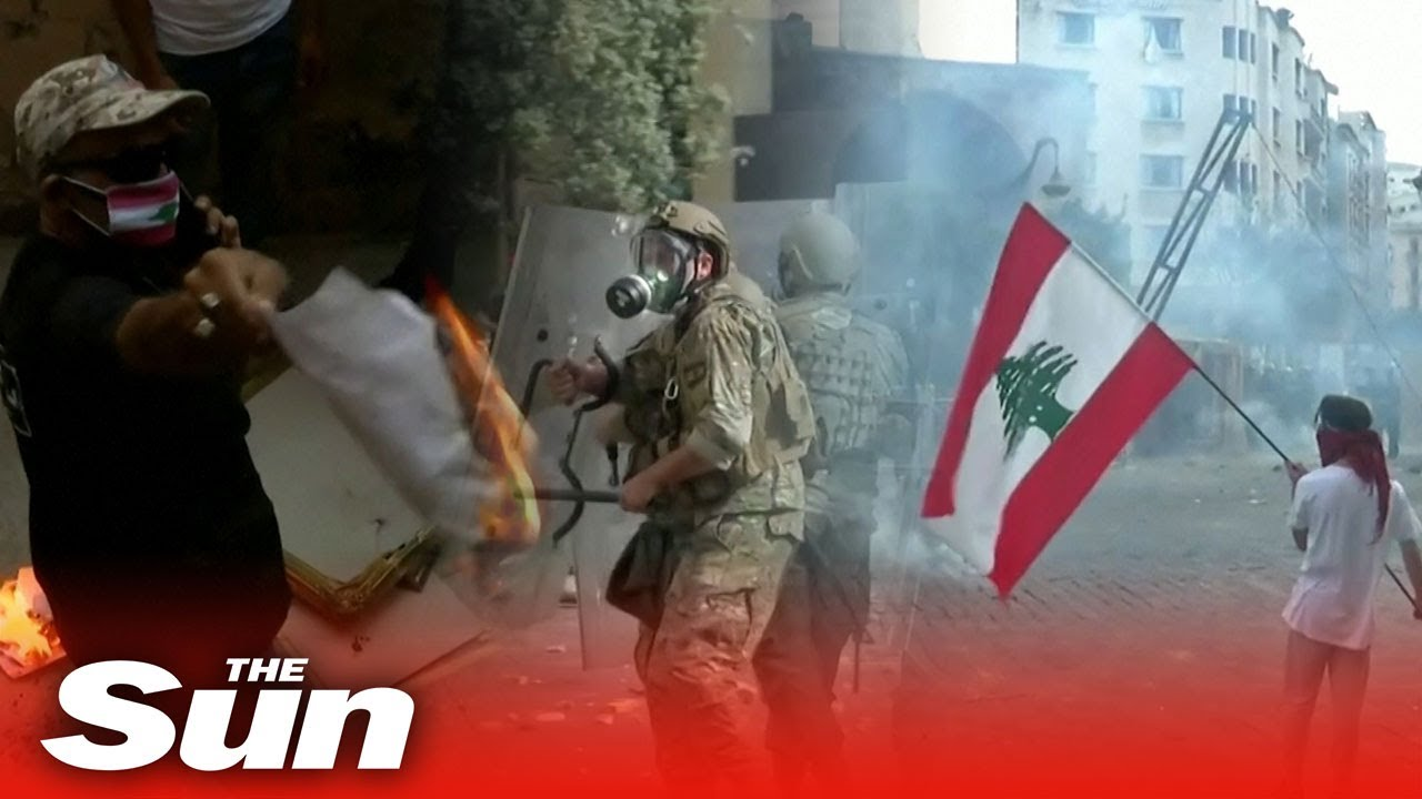 Anti-government protests erupt throughout Beirut as city contends with blast aftermath