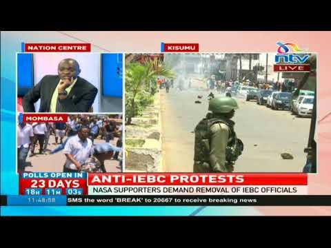 Protestors in Kisumu engage police in running battles as anti-IEBC demos rock several towns