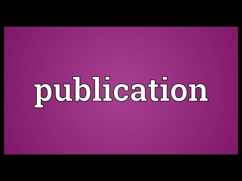 Publication Meaning